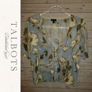 Talbots Floral Beaded Cardigan | Size XS